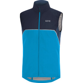 GORE WEAR R7 Partial Gore-Tex Infinium Chaleco Hombre, dynamic cyan/orbit blue